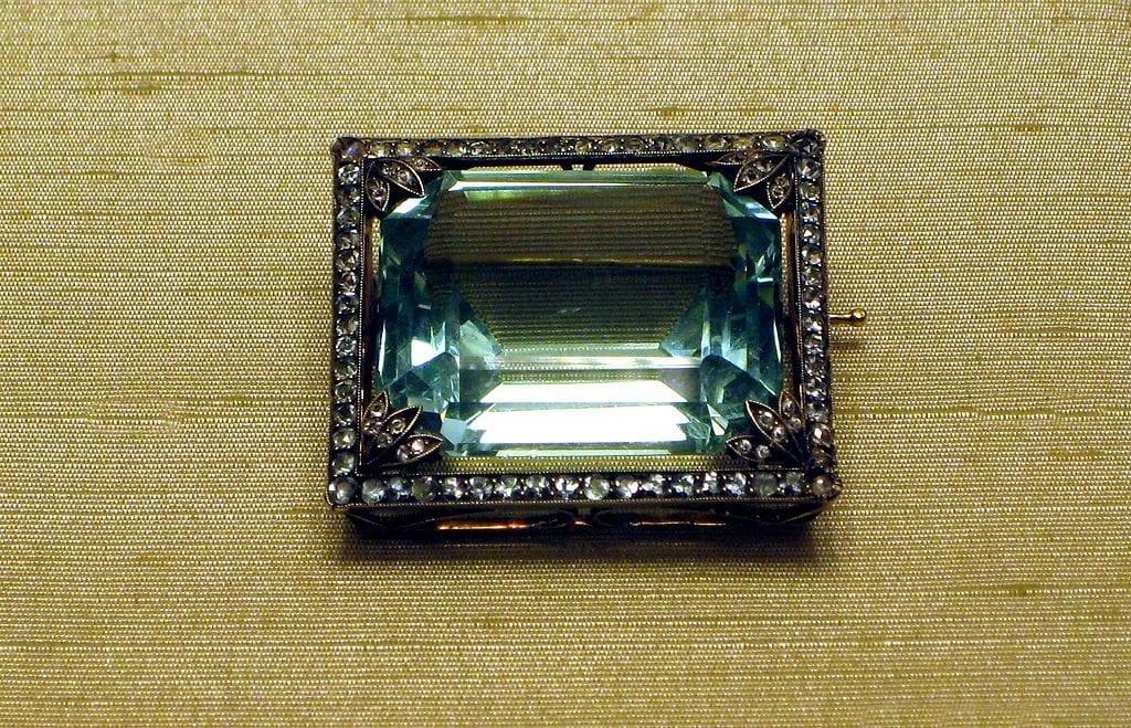 Faberge aquamarine brooch