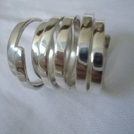 coil silver ring - polishing metals