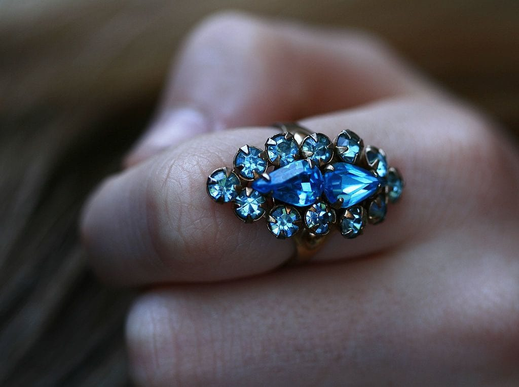 rhinestone ring - glass gemstones