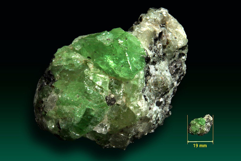 Tsavorite, regional metamorphism - gem formation