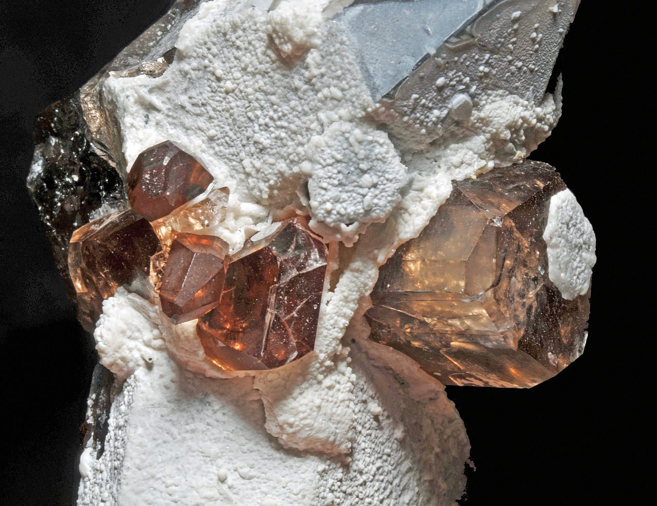 topaz and quartz - gem formation