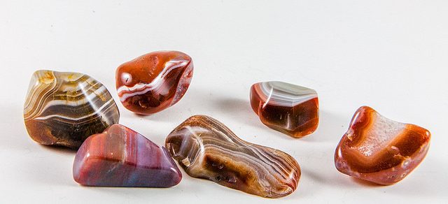 Agates - gemstone tumbling