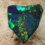 """Black Opal,"" Harlequin Prince Opal, 215.85 carats, Lightning Ridge, American Museum of Natural History, by greyloch is licensed under CC By-SA 2.0"