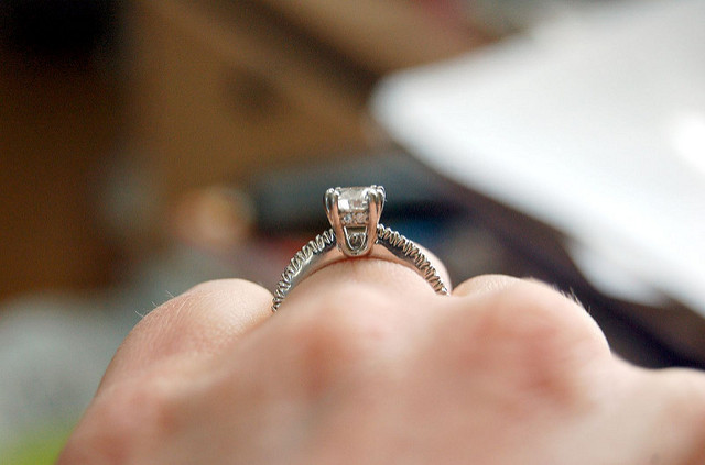 prong setting - ring