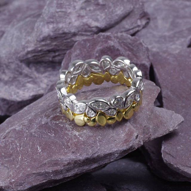 jewelry metals - platinum and gold ring set