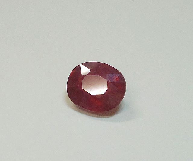 gemstone enhancements - heated ruby