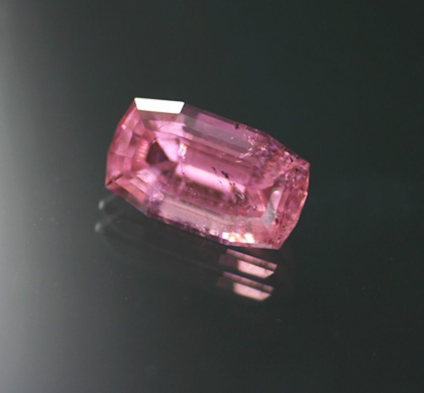cushion-cut pink tourmaline - California