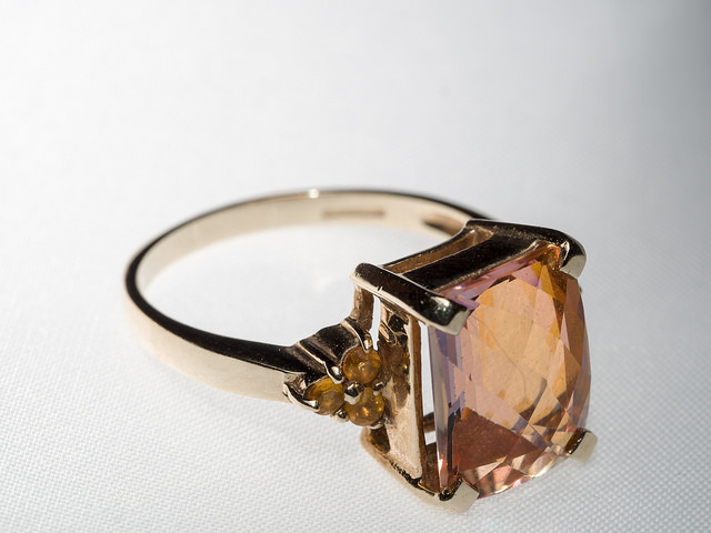topaz ring - transposing faceting angles