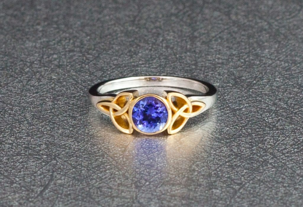 itm ring yellow diamond tanzanite ebay gold peacock ct