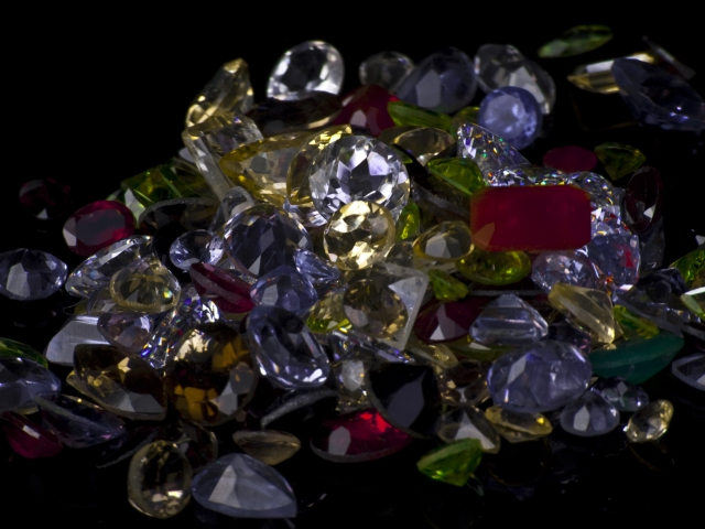 stack of gemstones - gemstone collection