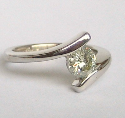 diamond simulants - moissanite ring