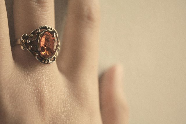 """Amber Tells The Past,"" amber ring, by Chiara Cremaschi is licensed under CC By-ND 2.0"