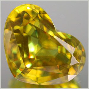 heat-cut sphene - Sri Lanka