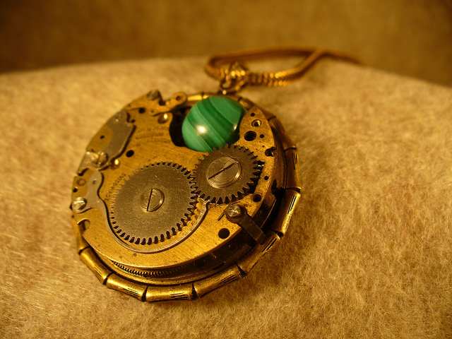 """Moving Malachite Pendant"" by viviannedraper is licensed under CC By 2.0"