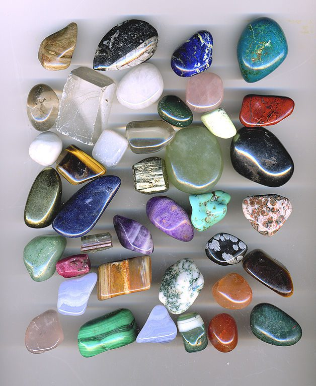 handling gems securely - tumbled gemstones