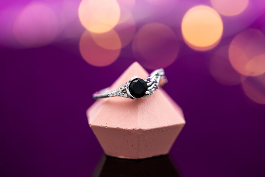 modern black onyx ring