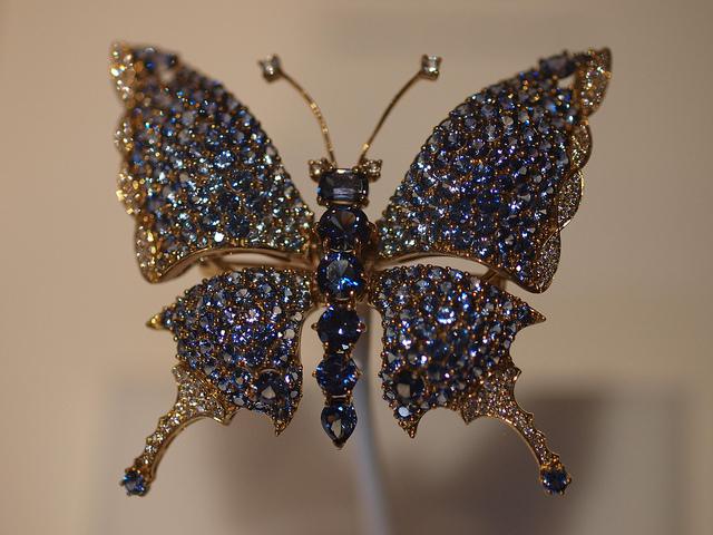 benitoite brooch