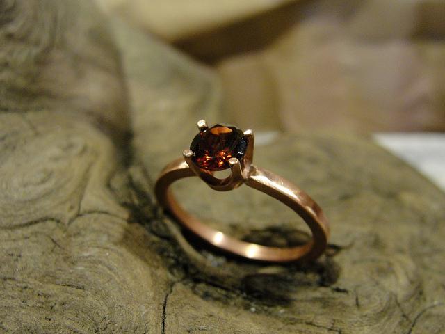 Almandine and Copper Ring