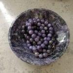 charoite - bowl and beads