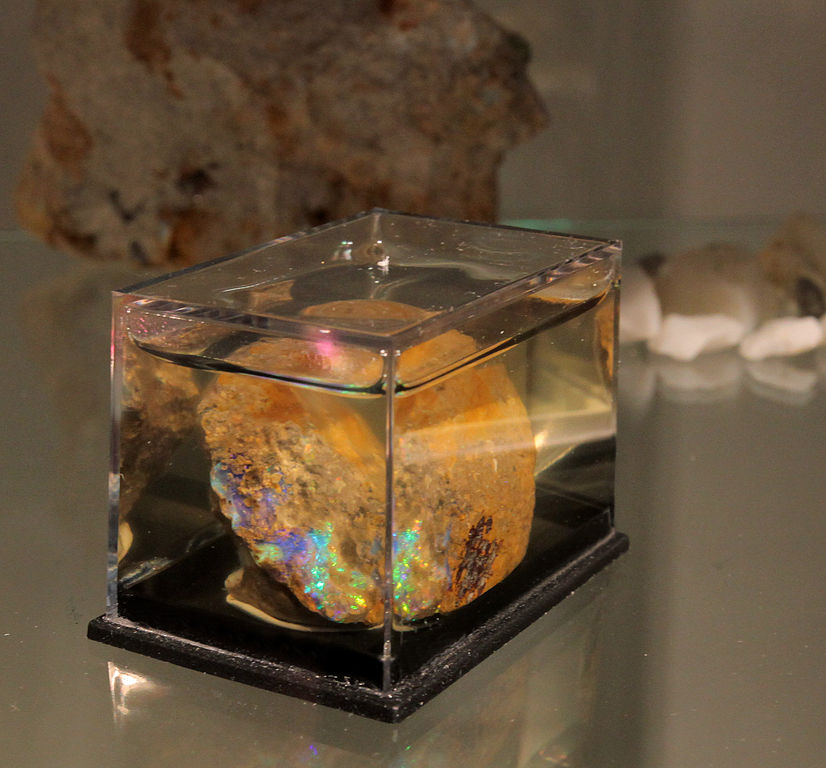 """Slovakia Opal,"" precious opal, site: Slovak Republic, Slanské hills, village Červenica site – Libanka, by Ivan Kopor is licensed under CC By-SA 3.0"