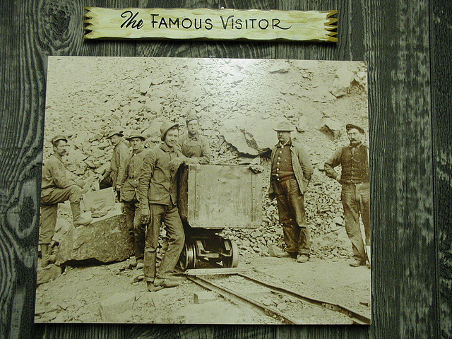 """Theodore Roosevelt visiting a North Carolina mineral mine,"" Emerald Village, North Carolina Mining Museum Little Switzerland (Mitchell County, N.C.), by Government & Heritage Library, State Library of NC is licensed under CC By 2.0"
