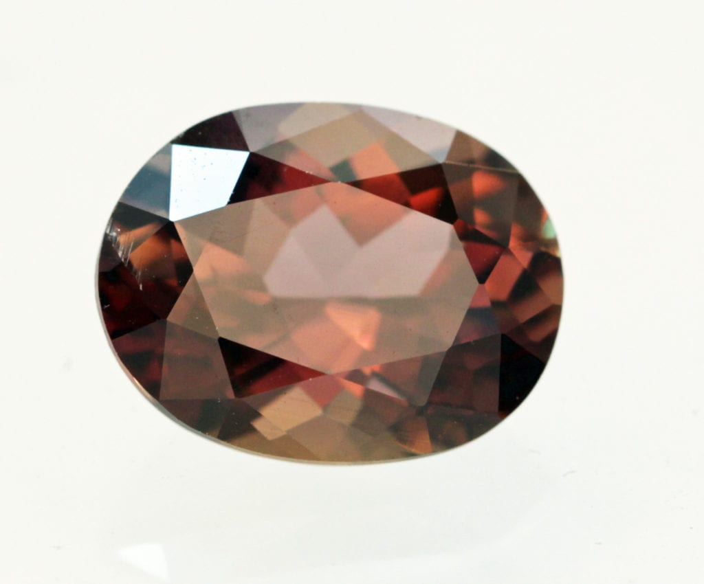 3.60 cts axinite, oval cut - Pakistan