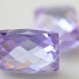 polishing cubic zirconia - baguette cut gem