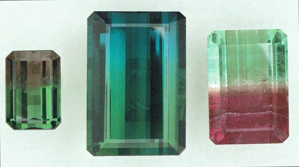 bi-color tourmalines - Brazil