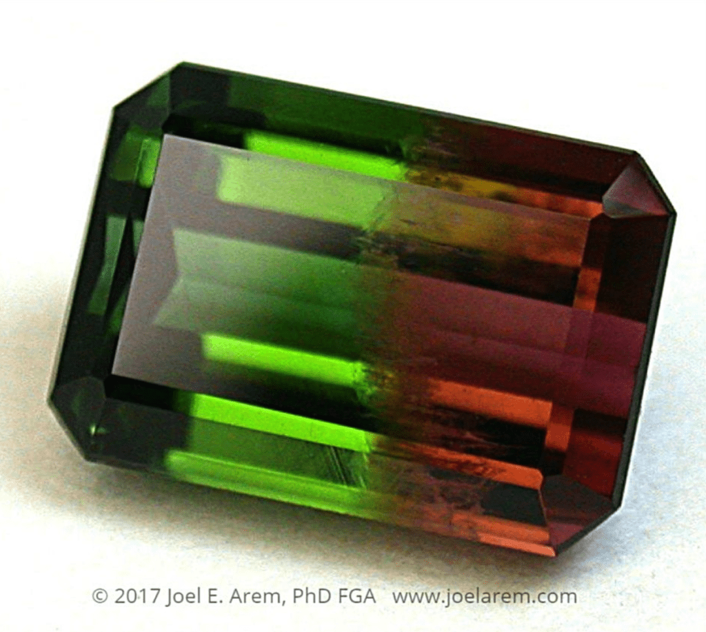 bi-color tourmaline - Brazil