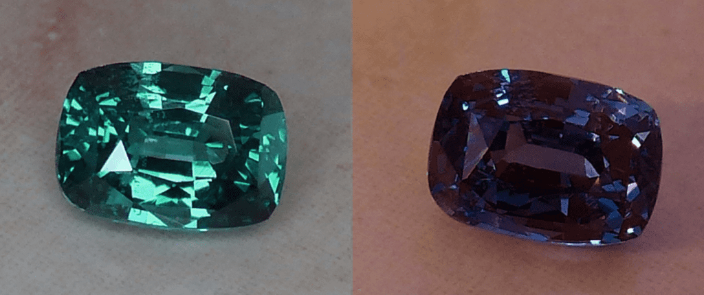 alexandrite - cushion