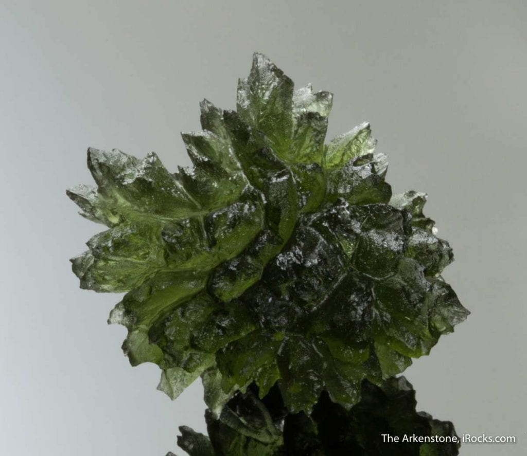 moldavite display specimen