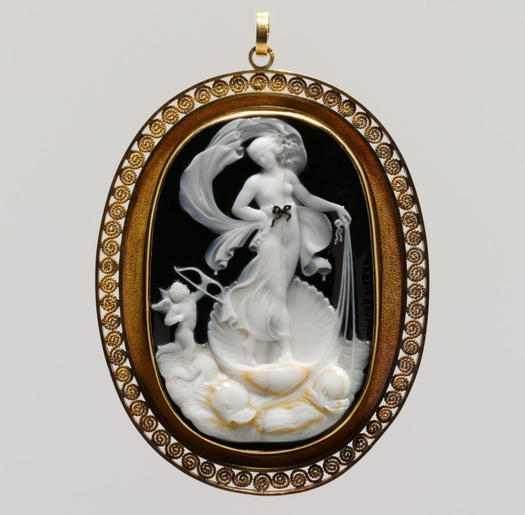 Venus Marina, onyx cameo, 19th century