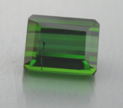 Emerald Cut Green Tourmaline - Gem cutting terms