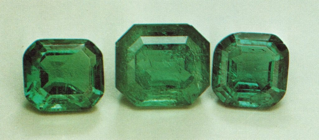Faceted emeralds - Colombia