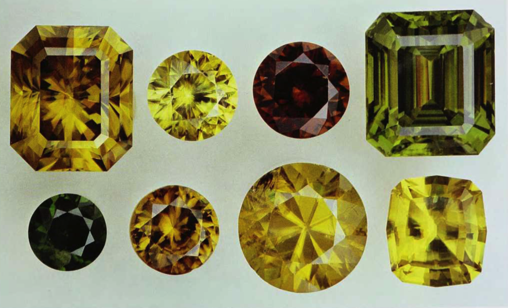 Faceted Sphene Collection 208