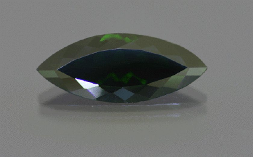 color-change tourmaline - green