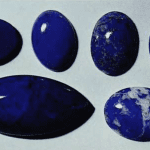 Lapis Lazuli, Afghanistan (solid blue), Chile (mottled), cabochons 5 to 25 carats.