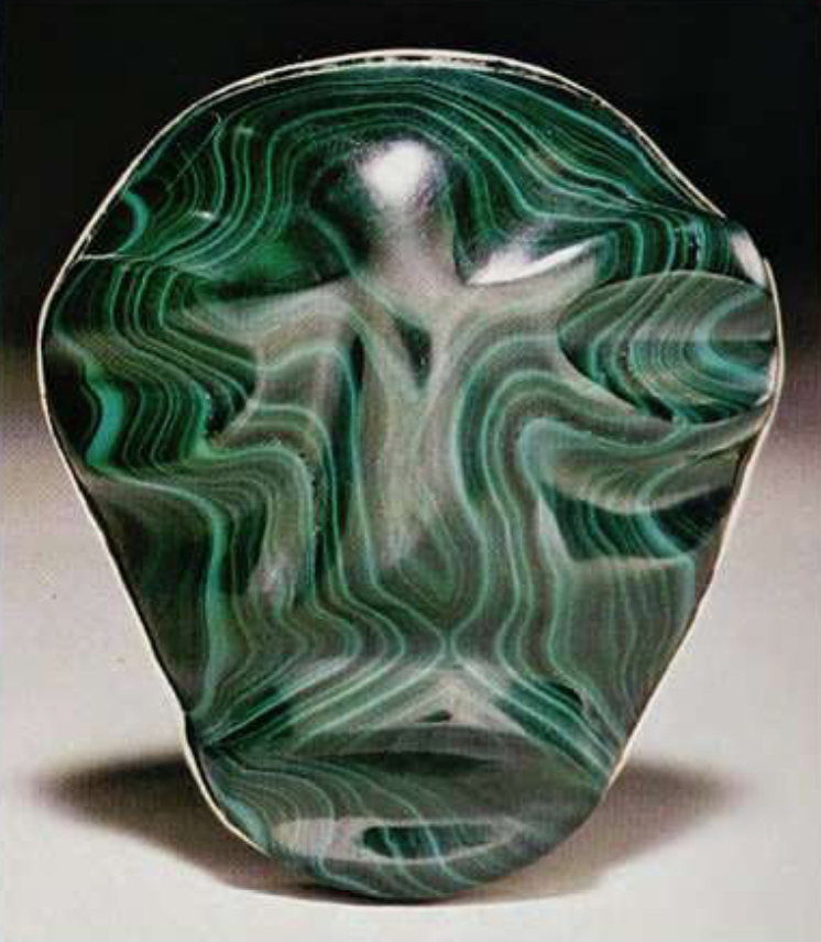 Malachite, Democratic Republic of The Congo (~ 4 inches high)
