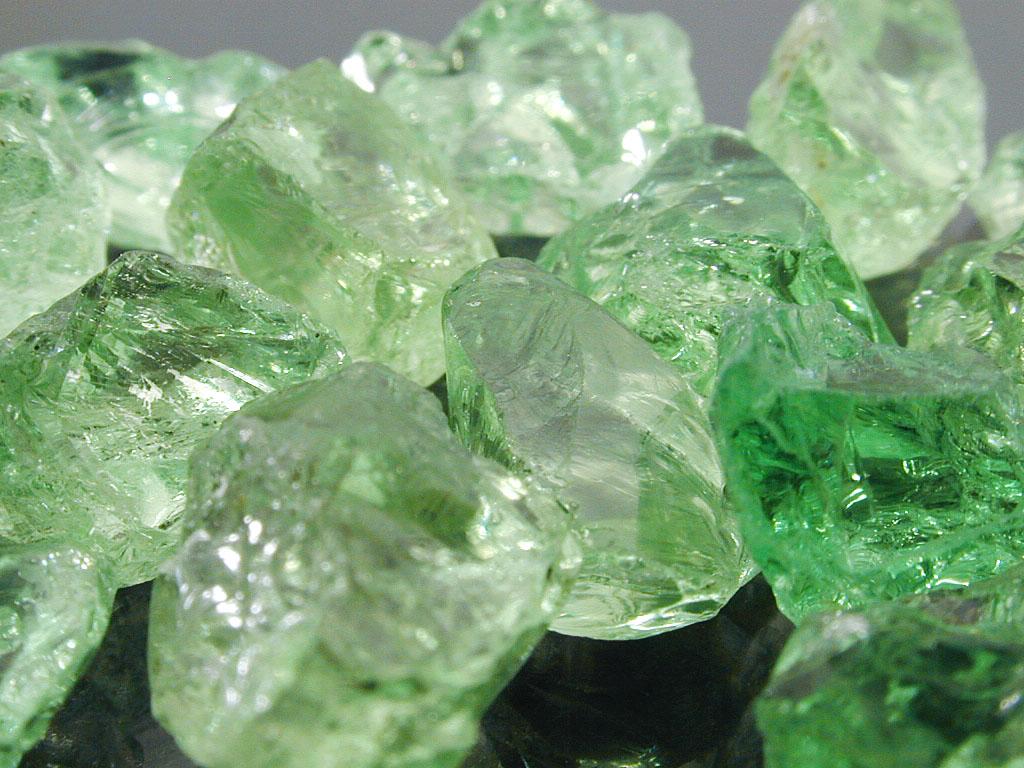 Rough Merelani Mint Green Garnets
