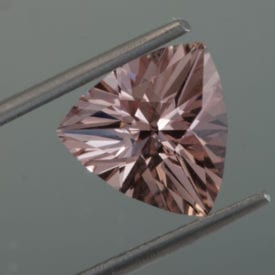 morganite - triangular cushion cut