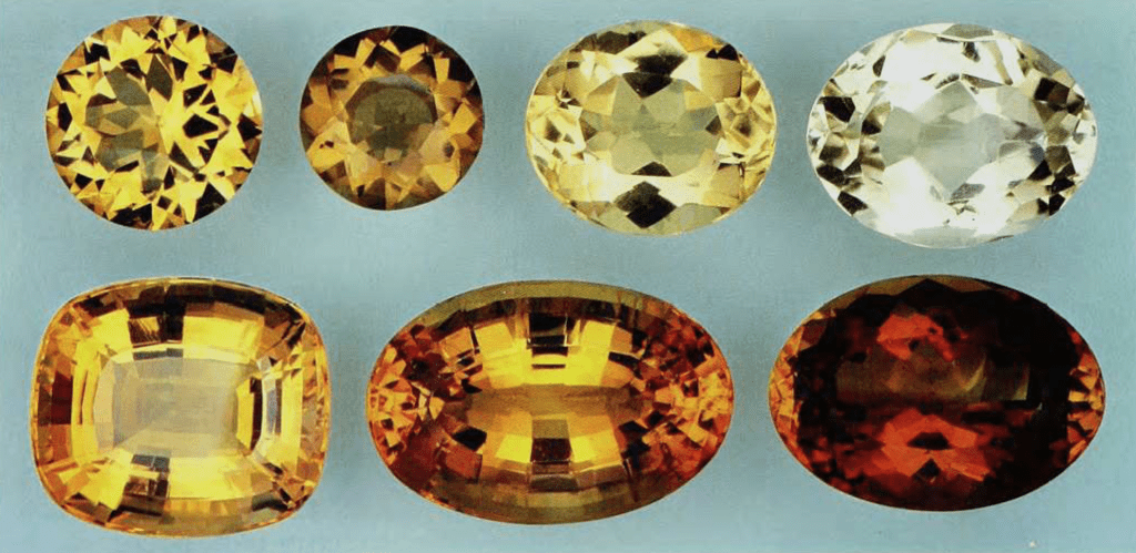 citrine - faceted gems