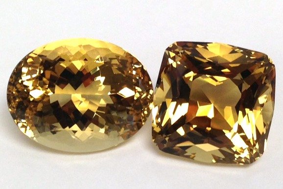 faceted scapolite gems - Tanzania