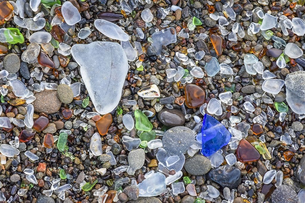 sea glass - glass gemstones