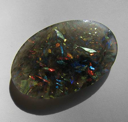 cabbed Slocum stone - glass gemstones