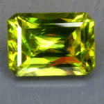 Sphene - Emerald Cut - Madagascar