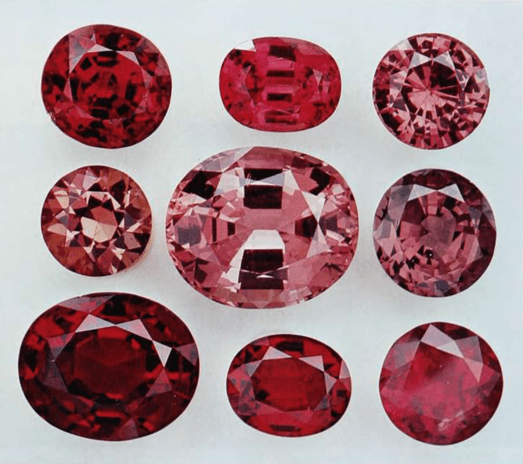 Spinel gemstones - Myanmar