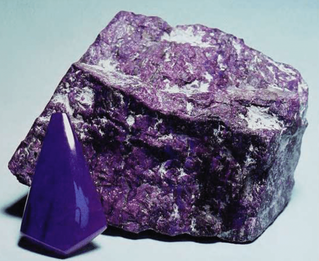 Sugilite gem and rough - South Africa