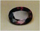 CHRYSOBERYL: Alexandrite. USSR (~6 carats); incandescent light