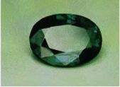 CHRYSOBERYL: Alexandrite. USSR (~6 carats); daylight