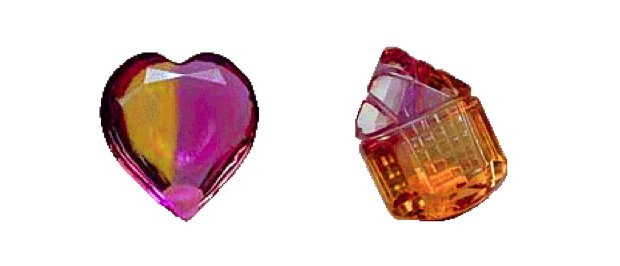 ametrines - artistic colored stones